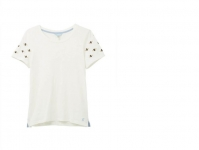 Joules Carley Crew neck Top - Cream Bee