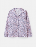 Joules Dream Long Sleeve Pyjama Top - Lilac Leopard