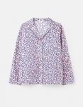 Joules Dream Long Sleeve Pyjama Top - Lilac Leopard