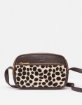 Joules Farley Leather Bag - Chocolate