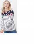 Joules Harbour Long Sleeve Jersey - Floral Border Stripe