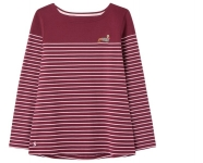 Joules Harbour long sleeve jersey top - Purple