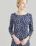 Joules Harbourprint Top - French navy Hearts