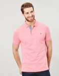 Joules Jersey Polo - Pale Peachy Pink