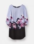 Joules Lyris Dress - Dusk Grey Floral