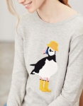 Joules Miranda Crew Neck Jumper - Grey Puffin
