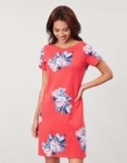 Joules Riviera Print Dress-Floral Red