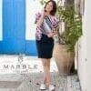 Marble 2399 Denim Skirt - Navy