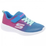 Skechers Go Run 600 Sprinkle Splash - Neon Blue/Pink