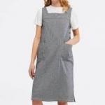 White Stuff Arty Stripe Pinny Dress - Blue