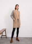 White Stuff Celina Reversible LL Coatigan - Grey Marl
