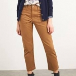 White Stuff Denby 7/8 Trousers - Mid Brown