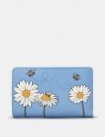 Yoshi Bee Happy Zip Around Purse - Blue